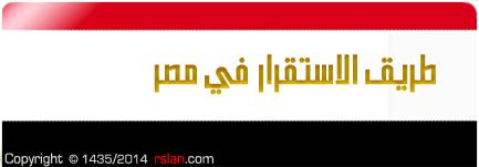طريق الاستقرار في مصر